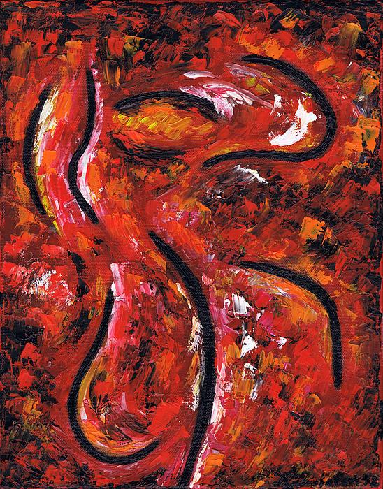 Dancing Painting - Woman Dancing by Kamil Swiatek