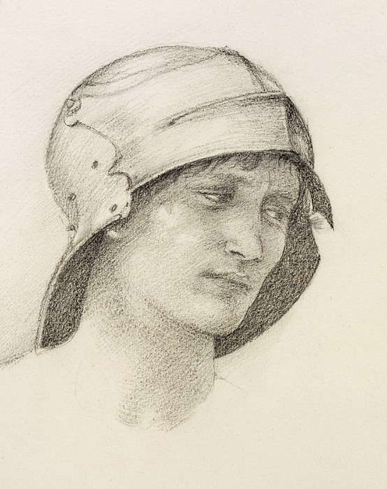 Drawing Drawing - Woman In Hat, Detail From A Sketchbook by Sir Edward Coley Burne-Jones