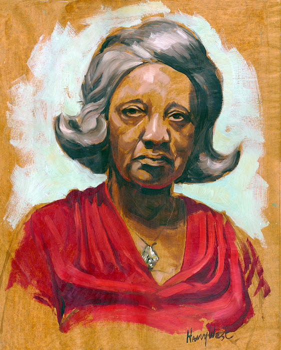 Portrait Painting - Woman Of Color by Harry West