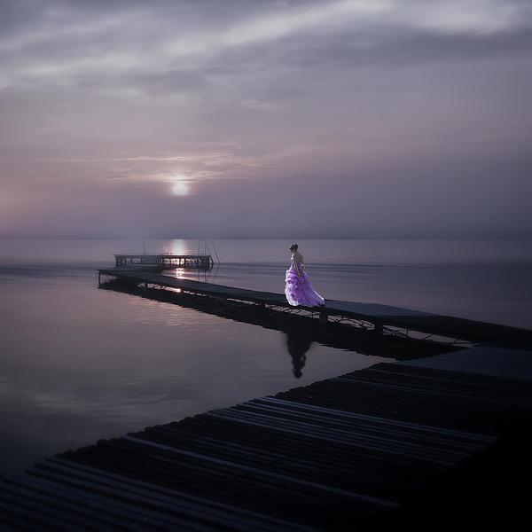 Woman Photograph - Woman On Footbridge by Joana Kruse