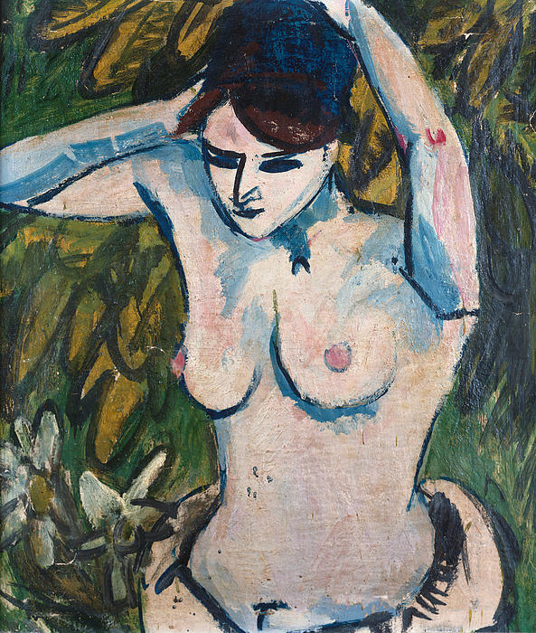 Woman With Raised Arms Painting - Woman With Raised Arms by Ernst Ludwig Kirchner
