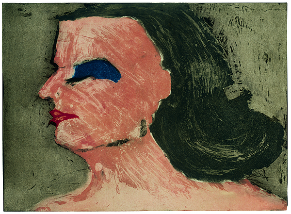 Womans Profile Drawing by Tim Southall