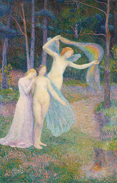 Impressionism Painting - Women Amongst The Trees by Hippolyte Petitjean