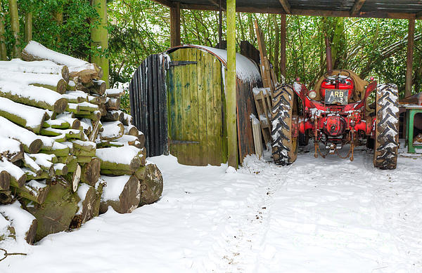 Winter Photograph - Woodshed In Winter by David Birchall