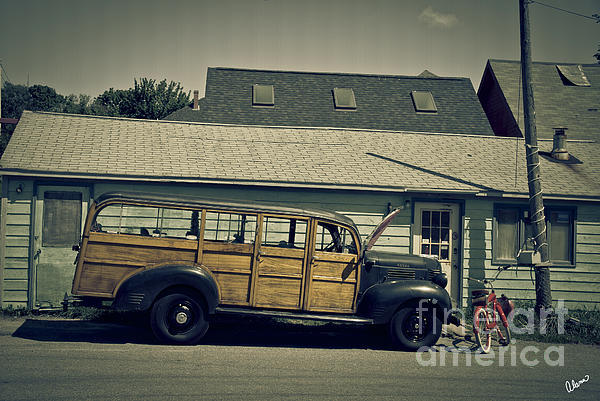 Old Photograph - Woody Bus by Alana Ranney