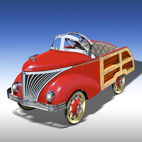 Hot Rod Photograph - Woody Peddle Car by Mike McGlothlen