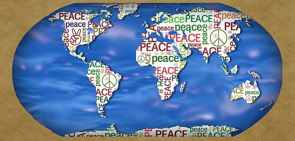 Peace Sign Digital Art - World Peace by Chris Goulette