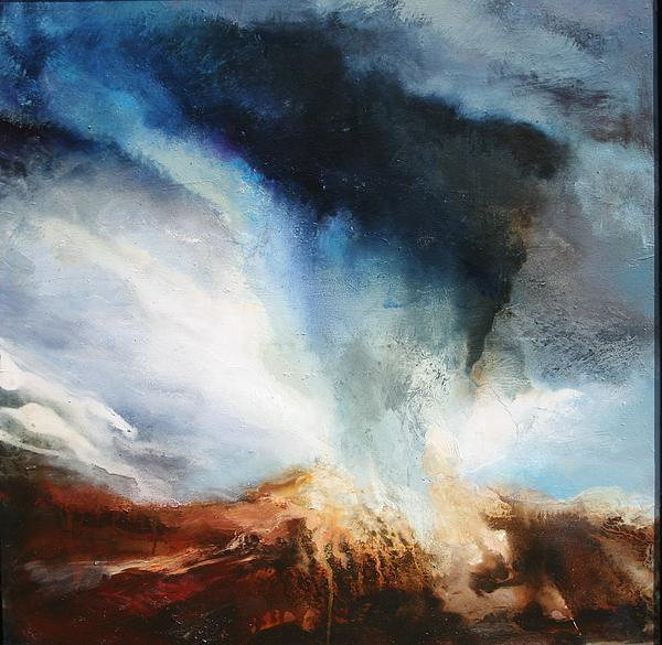 Extreme Weather Painting - Worlds Collide by Lissa Bockrath