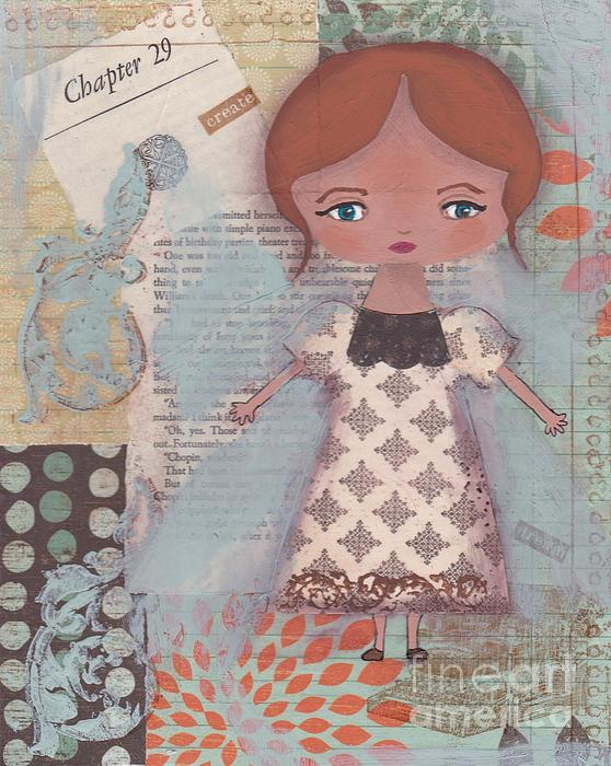 Girl Mixed Media - Write Your Story by Trenda Berryhill