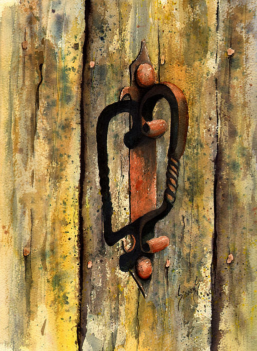 Rust Painting - Wrought Iron Handle by Sam Sidders