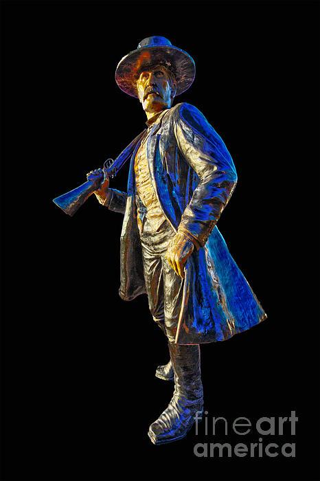 Wyatt Earp Photograph - Wyatt Earp Statue Hdr Print by Andreas Hohl