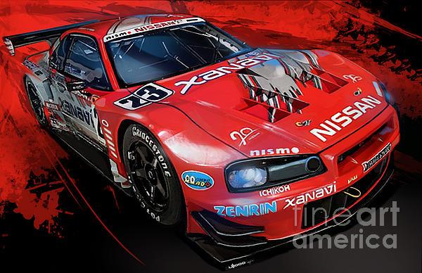 Car Digital Art - Xanavi Skyline Fury by Uli Gonzalez