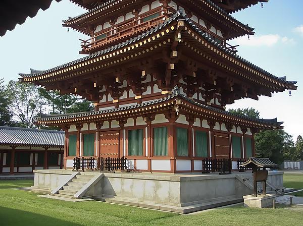 Nara Photograph - Yakushi-ji Temple West Pagoda - Nara Japan by Daniel Hagerman