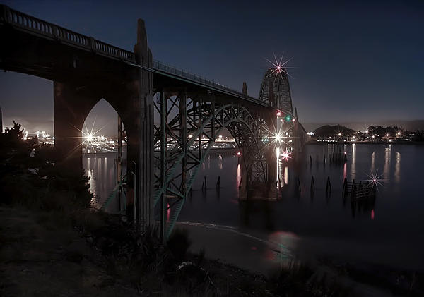 Bridge Photograph - Yaquina Bay Bridge - Newport Oregon by Daniel Hagerman