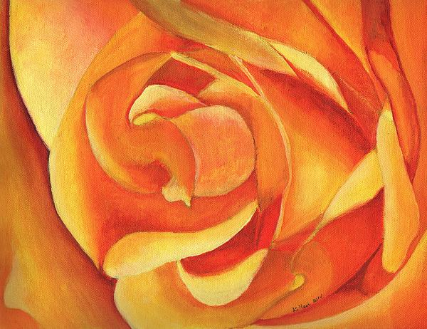 Modern Painting - Yellow Rose #3 by William Killen