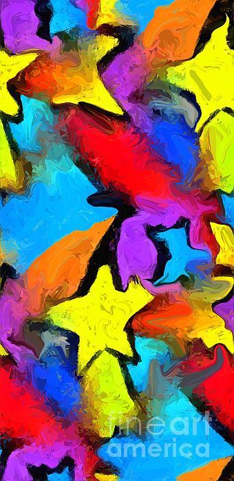 Colorful Digital Art - Yesterdays Rainbow by Chris Butler