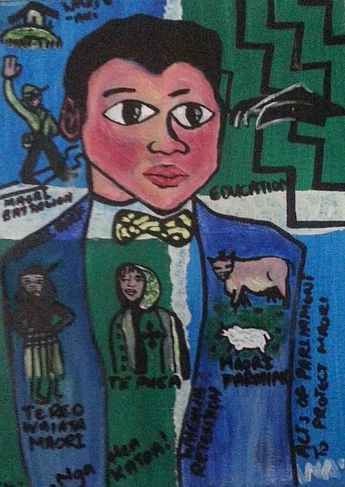 Young Apirana Ngata Painting by Hori Kiwara
