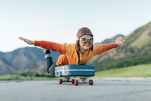 Young Boy Ready to Travel with Suitcase Photograph by RichVintage