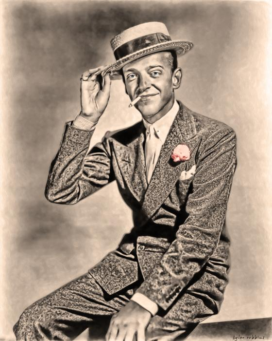 Fred Astaire Painting - Young Mr.astaire by Tyler Robbins