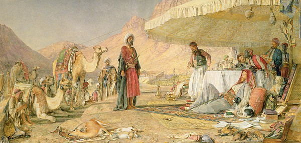 Xyc112301 Photograph -  A Frank Encampment In The Desert Of Mount Sinai by John Frederick Lewis