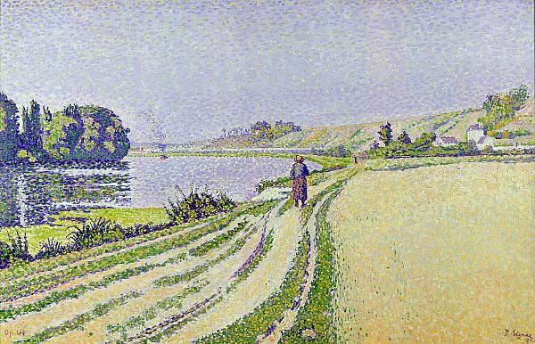 Herblay Painting -  Herblay La River  by Paul Signac