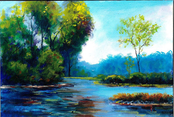 plein air landscape oil painting painting by andrew semberecki