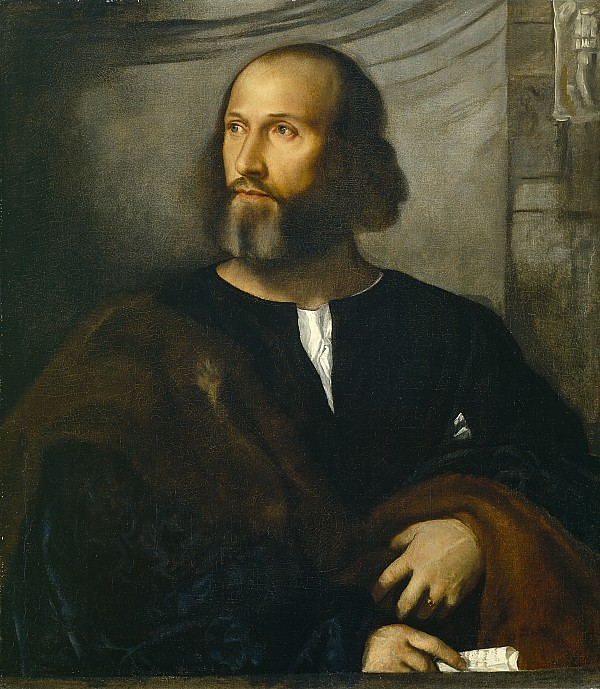Portrait Painting -  Portrait Of A Bearded Man by Titian