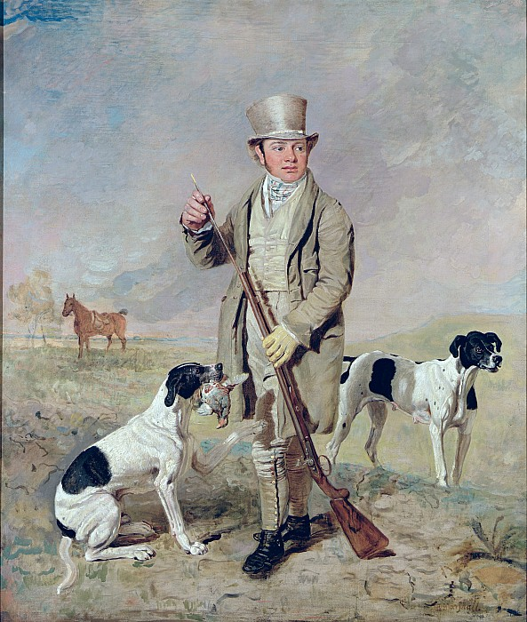 Richard Photograph -  Richard Prince With Damon - The Late Colonel Mellishs Pointer by Benjamin Marshall