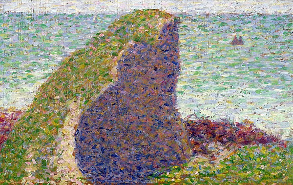 Study Painting -  Study For Le Bec Du Hoc by Georges Pierre Seurat