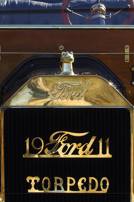 Hood Ornament Photograph - 1911 Ford Model T Torpedo Hood Ornament by Jill Reger