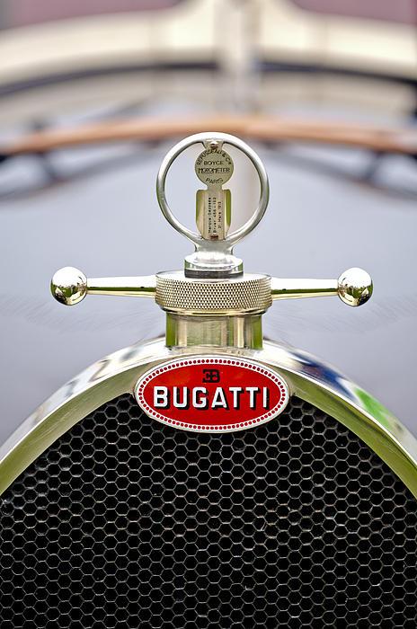 Car Show Photograph - 1923 Bugatti Type 23 Brescia Lavocat Et Marsaud Hood Ornament  by Jill Reger