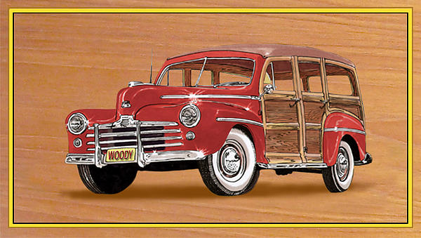 1946 Ford Woody Painting by Jack Pumphrey