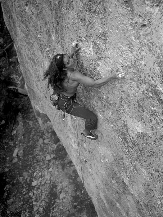 Adults Only Photograph - A Caucasian Women Rock Climbing by Bobby Model