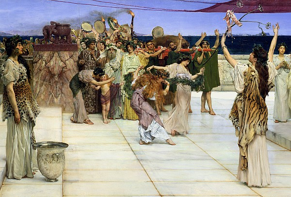Dedication Painting - A Dedication To Bacchus by Sir Lawrence Alma-Tadema