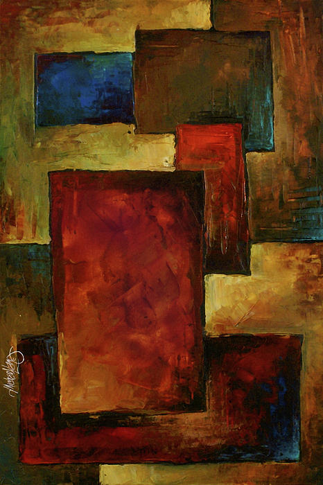 Earth Tones Painting - Abstract by Michael Lang