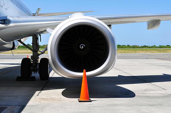 Engine Photograph - Air Transportation. Jet Engine Detail. by Fernando Barozza