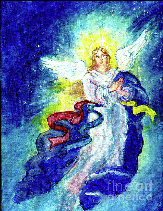 Angel Painting - Angel Of Joy by Doris Blessington