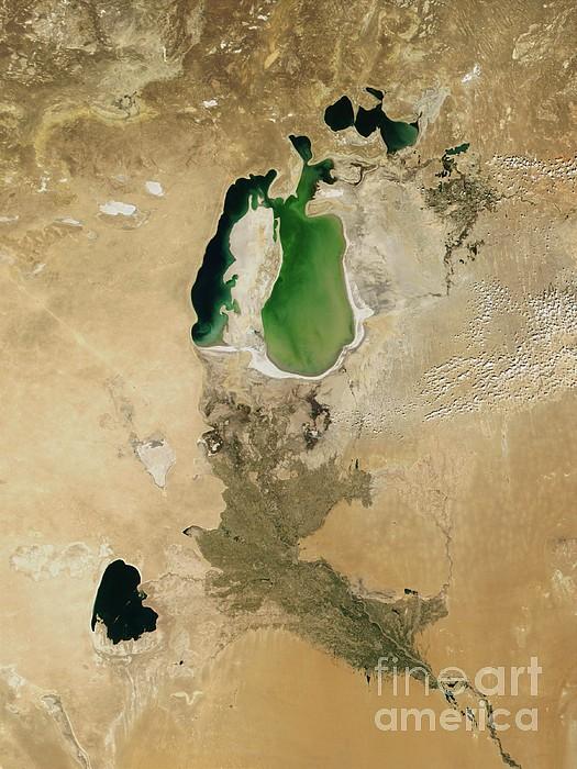 Aral Sea Photograph - Aral Sea by NASA / Science Source