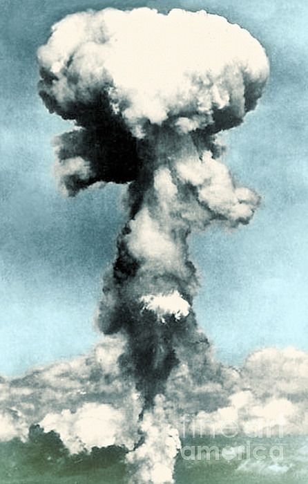 Enhanced Photograph - Atomic Bombing Of Nagasaki by Science Source