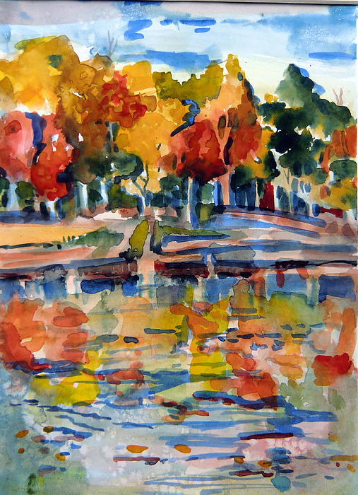 Autumn Painting - Autumn Color by Mindy Newman