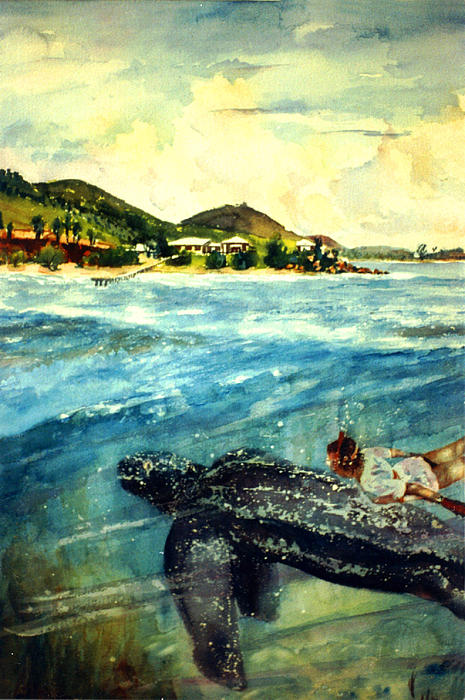 Watercolor Paintings Painting - Back To Culebra Island Puerto Rico by Estela Robles