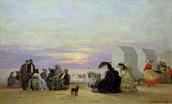 Beach Painting - Beach Scene by Eugene Louis Boudin