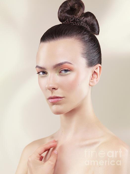 Beauty Photograph - Beautiful Young Woman Portrait by Oleksiy Maksymenko