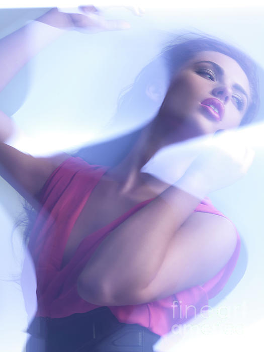 Woman Photograph - Beauty Photo Of A Woman In Shining Blue Settings by Oleksiy Maksymenko