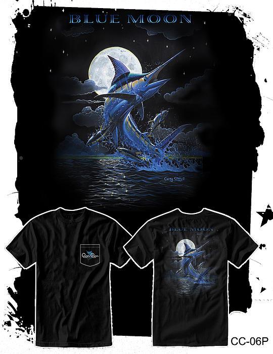 Moon Digital Art - Blue Moon by Carey Chen