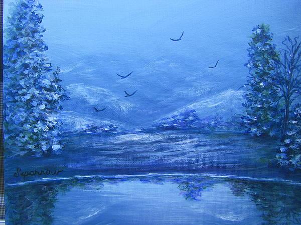 Blue Serenity Painting by Sandra Carroll