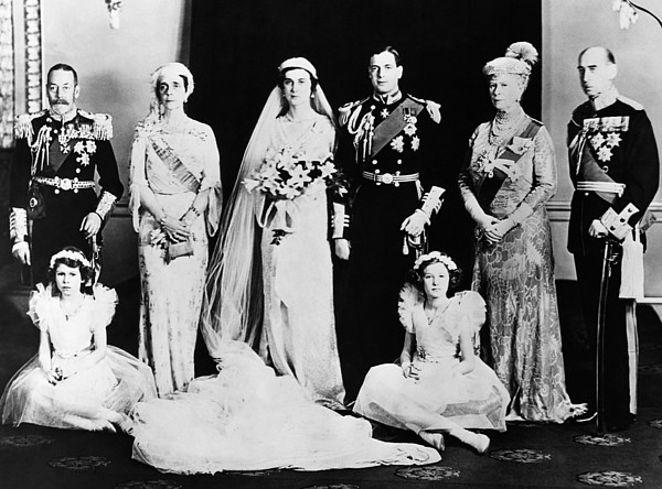 1930s Photograph - British Royal Family. Seated, From Left by Everett