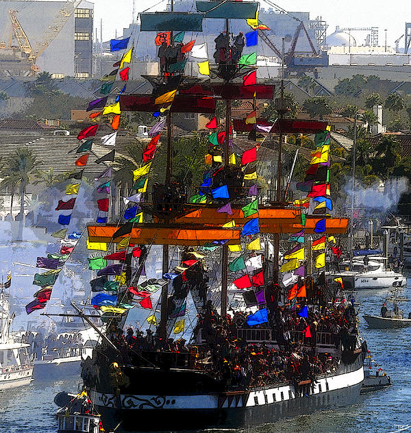 Artwork Painting - Colors Of Gasparilla by David Lee Thompson