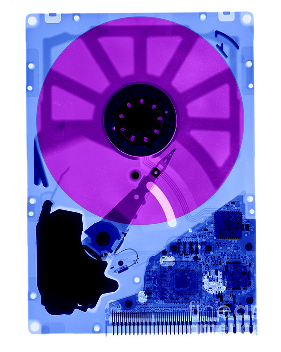 X-ray Photograph - Computer Hard Drive by Ted Kinsman