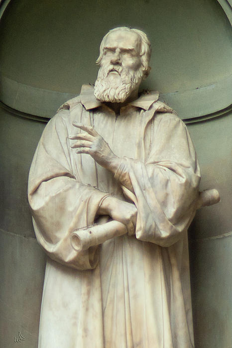 Statue Photograph - Contemplation Of Galileo by Michael Flood